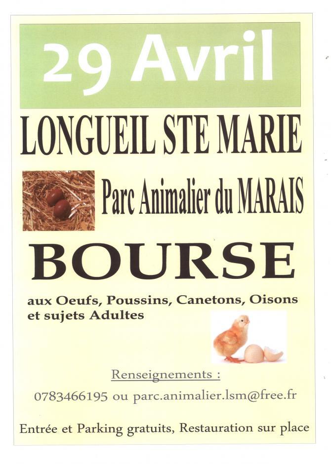 BOURSE aux Œufs et Poussins PARC ANIMALIER 29 Avril 2018